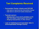taxi complaints received