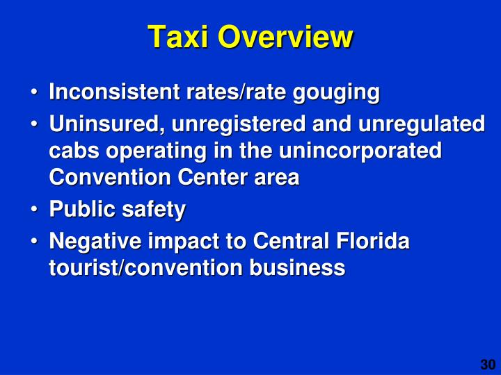 Taxi Overview