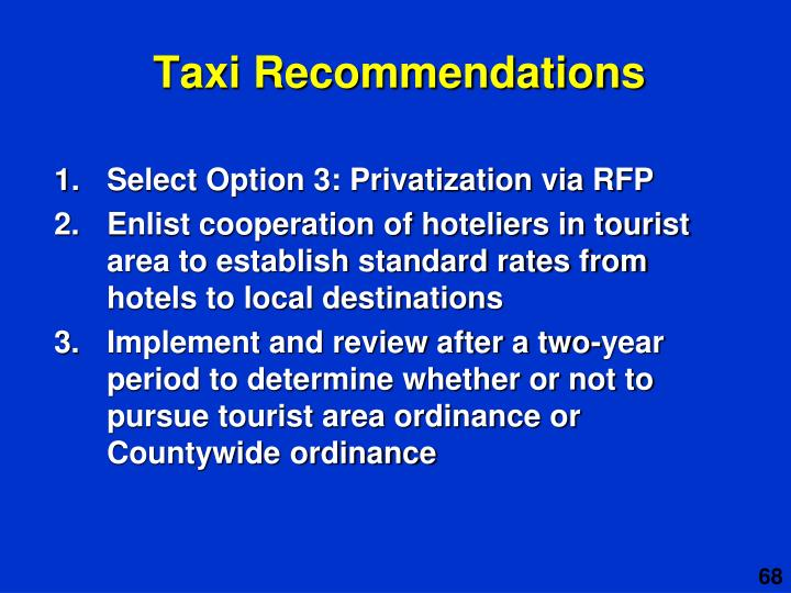 Taxi Recommendations