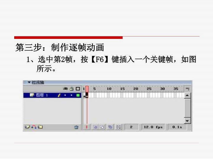 第三步:制作逐帧动画