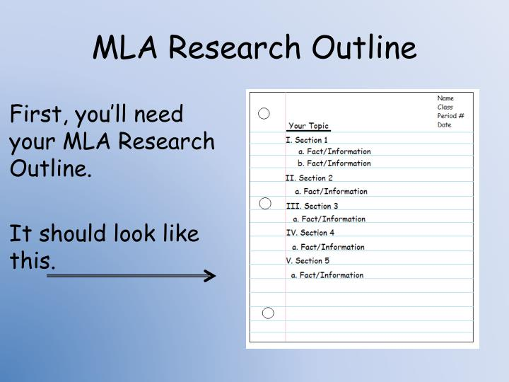 MLA Research Outline
