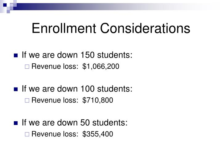 Enrollment Considerations
