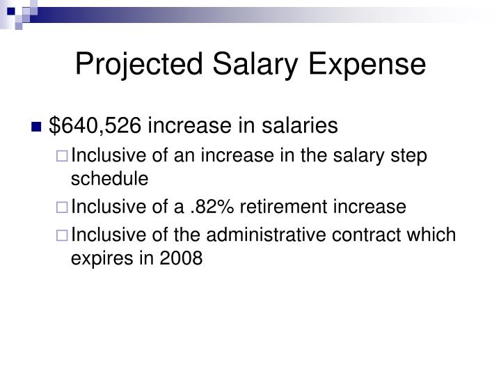 Projected Salary Expense