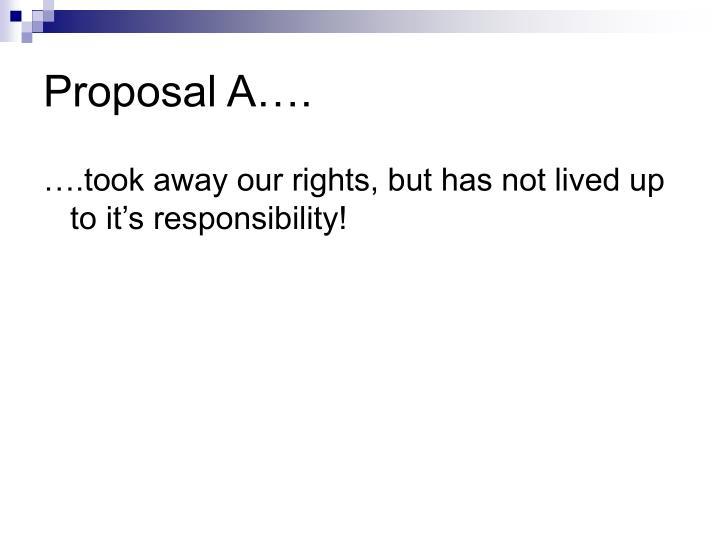 Proposal A….