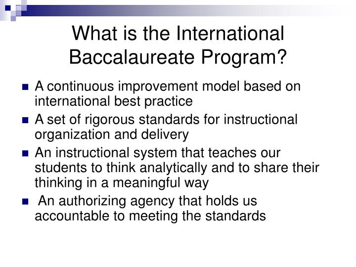What is the International Baccalaureate Program?
