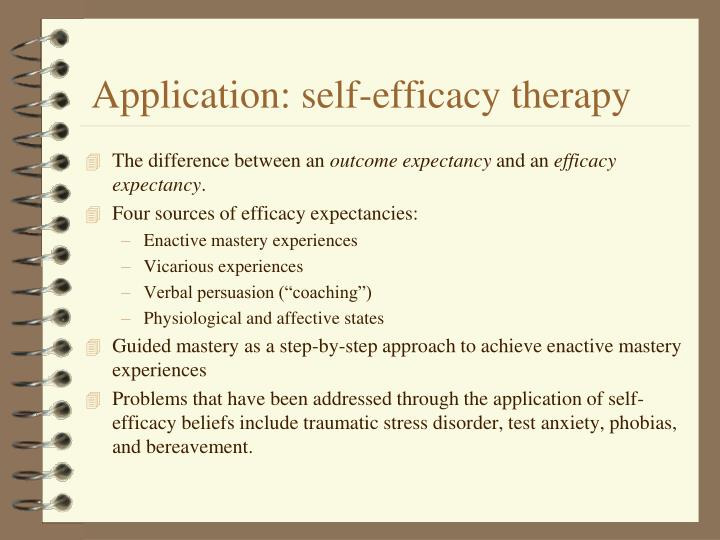 Application: self-efficacy therapy