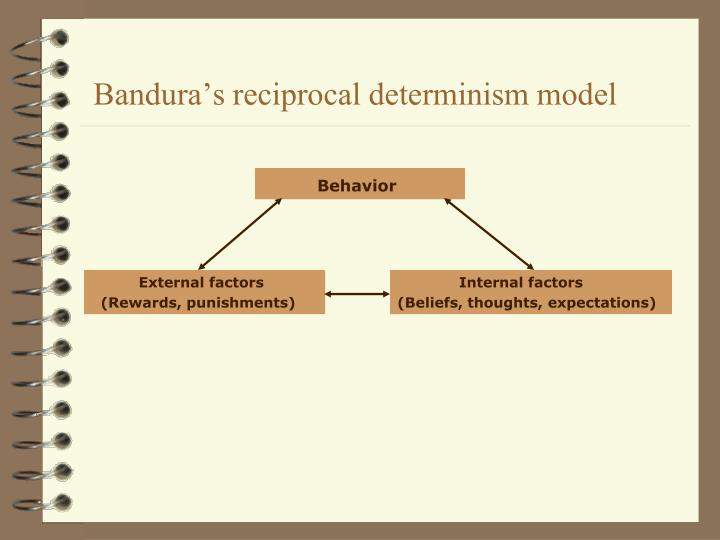 Bandura's reciprocal determinism model