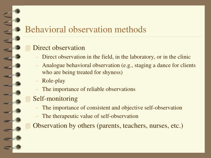 Behavioral observation methods