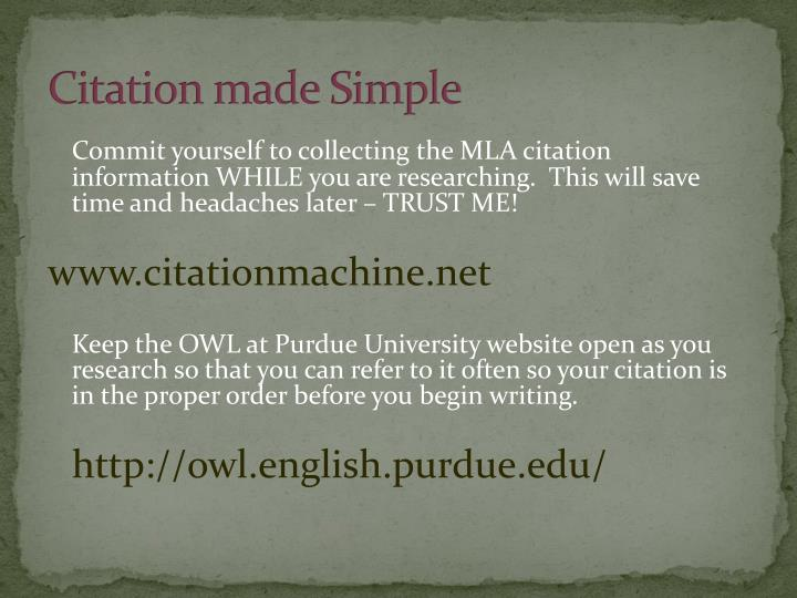 Citation made Simple