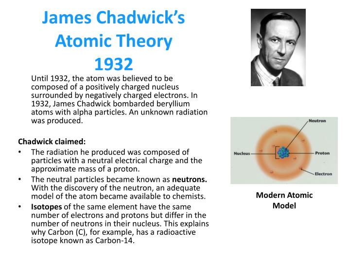 james chadwick atomic model - photo #9