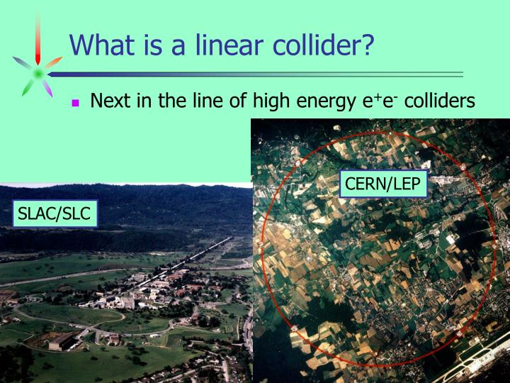 What is a linear collider?