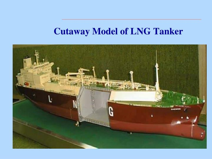 Cutaway Model of LNG Tanker