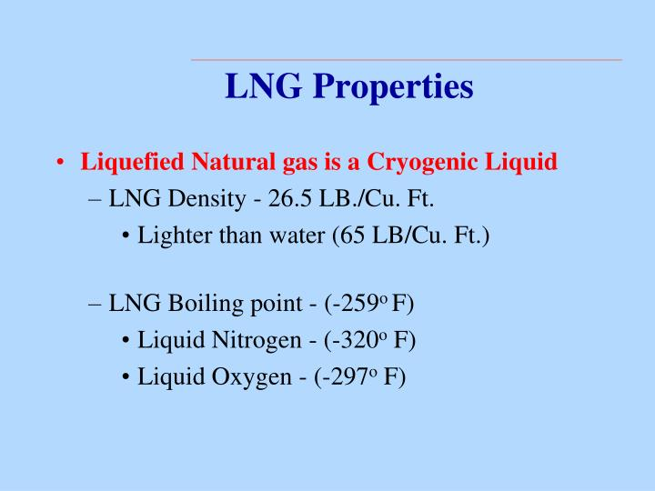 LNG Properties