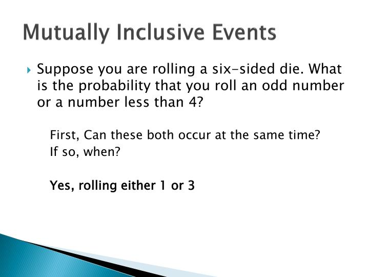 Mutually Inclusive Events