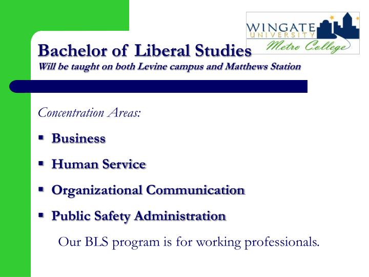 Bachelor of Liberal Studies