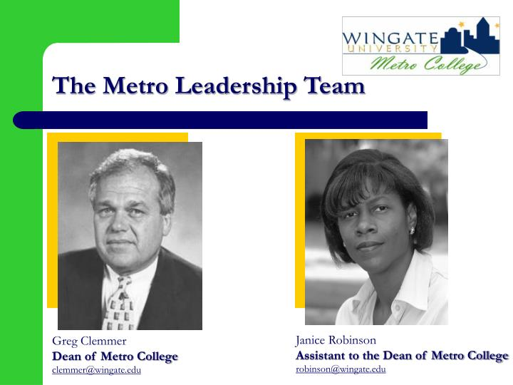 The Metro Leadership Team