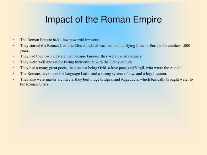 Impact of the Roman Empire