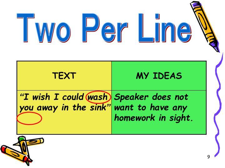 Two Per Line