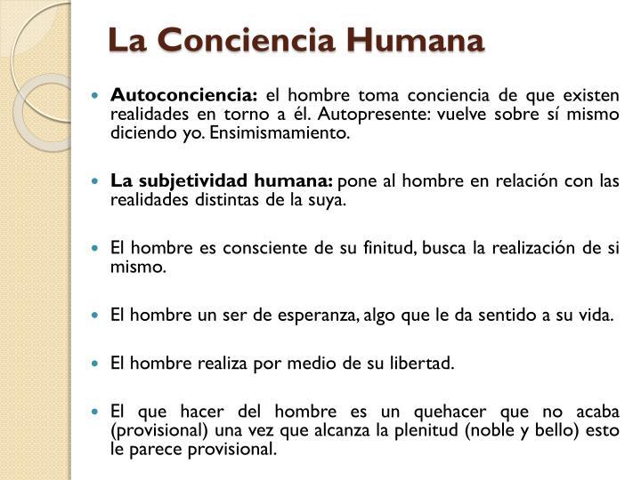 La Conciencia Humana