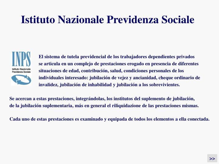 Istituto Nazionale Previdenza Sociale