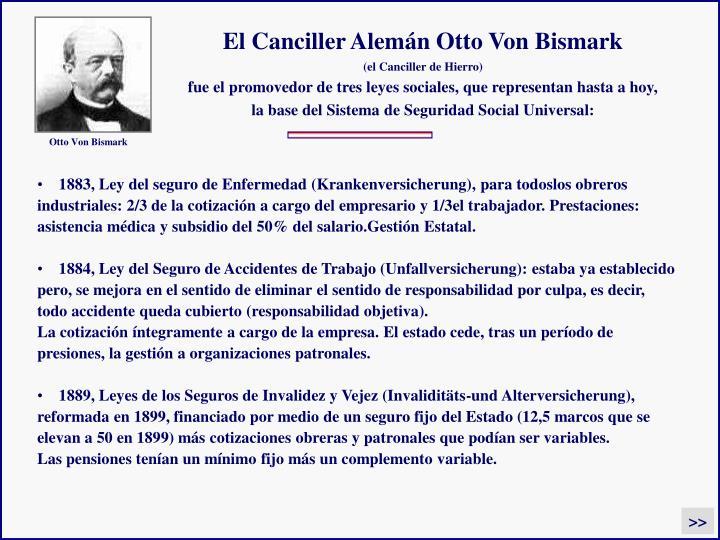 El Canciller Alemán Otto Von Bismark