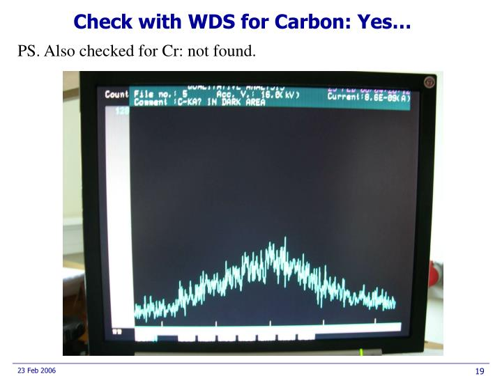 Check with WDS for Carbon: Yes…