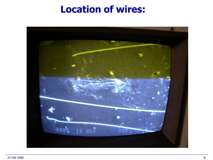 Location of wires: