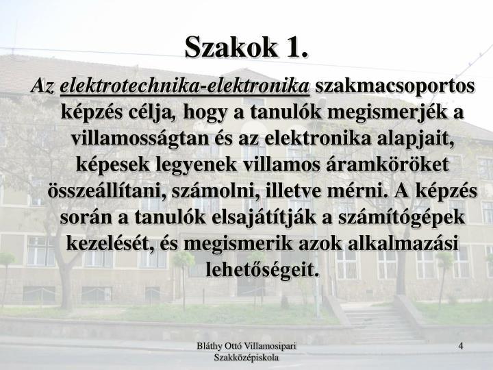 Szakok 1.