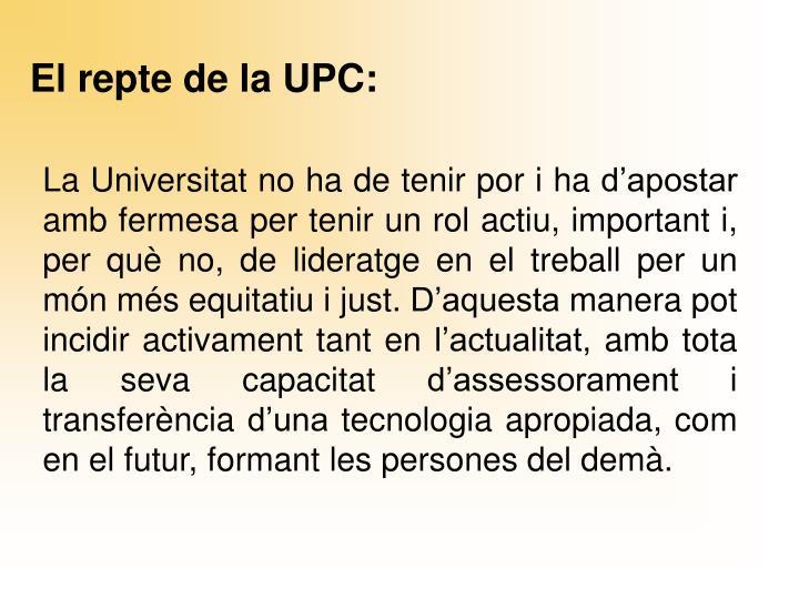 El repte de la UPC:
