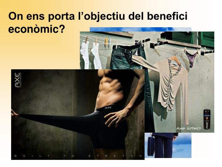 On ens porta l'objectiu del benefici econòmic?