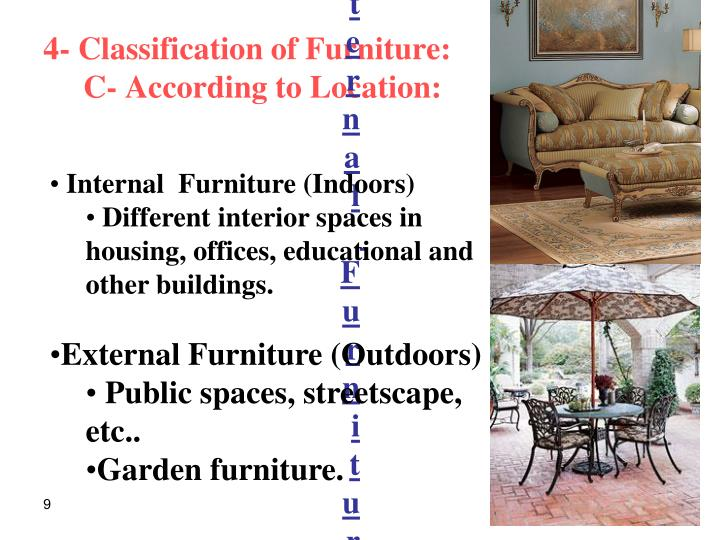 Internal  Furniture ( Indoors )