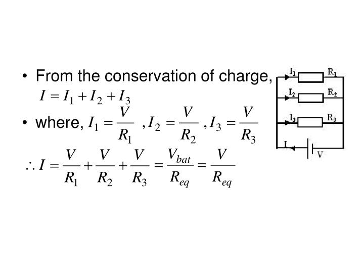 From the conservation of charge,
