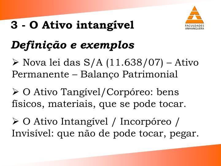 3 - O Ativo intangvel
