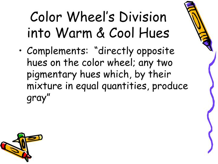 Color Wheel's Division into Warm & Cool Hues