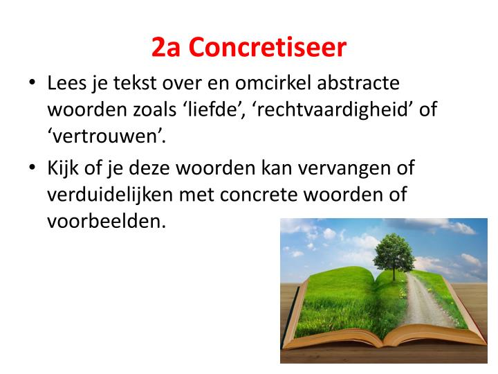 2a Concretiseer
