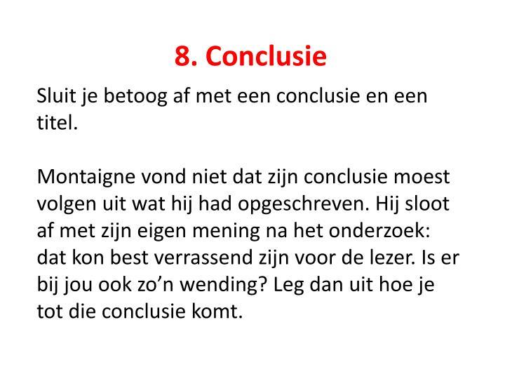8. Conclusie