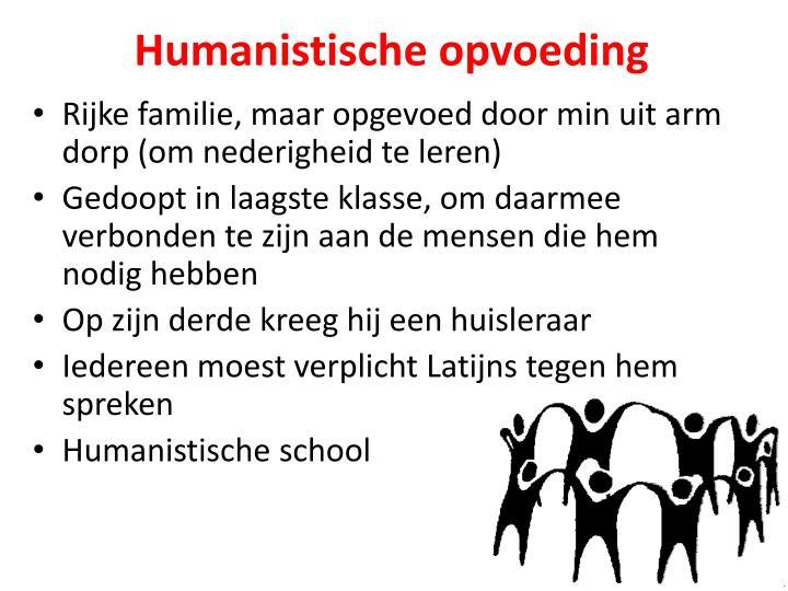Humanistische opvoeding