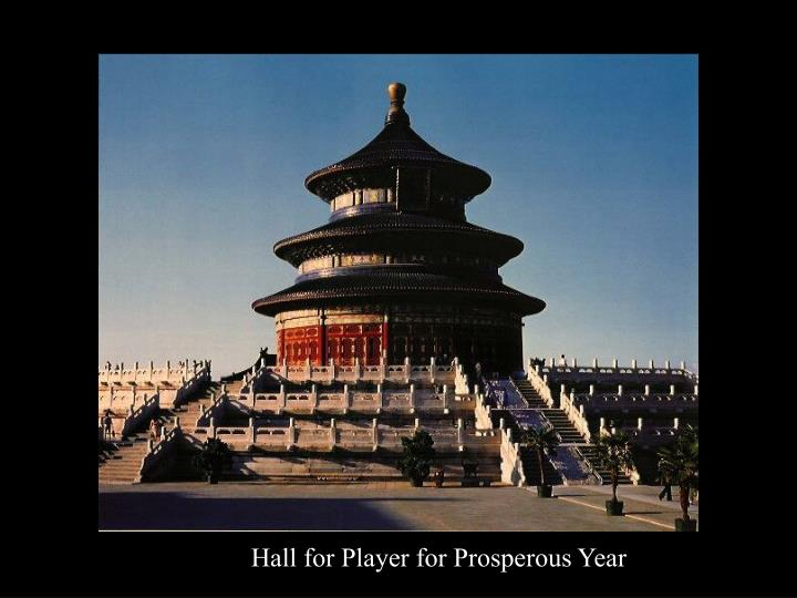 Hall for Player for Prosperous Year