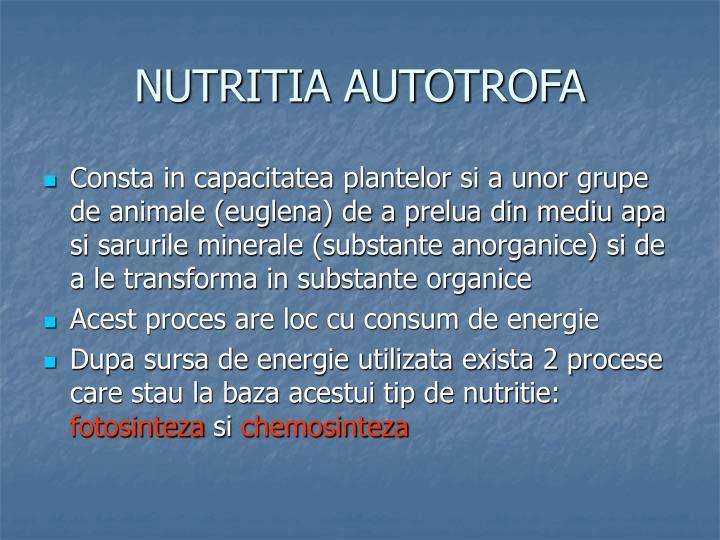 NUTRITIA AUTOTROFA