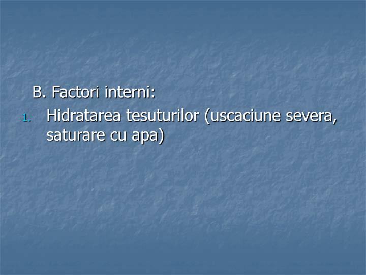 B. Factori interni: