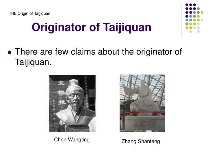 Originator of Taijiquan
