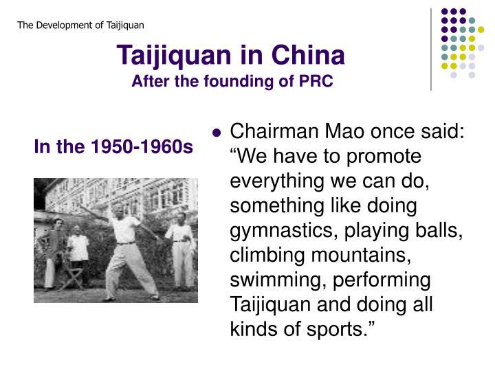Taijiquan in China