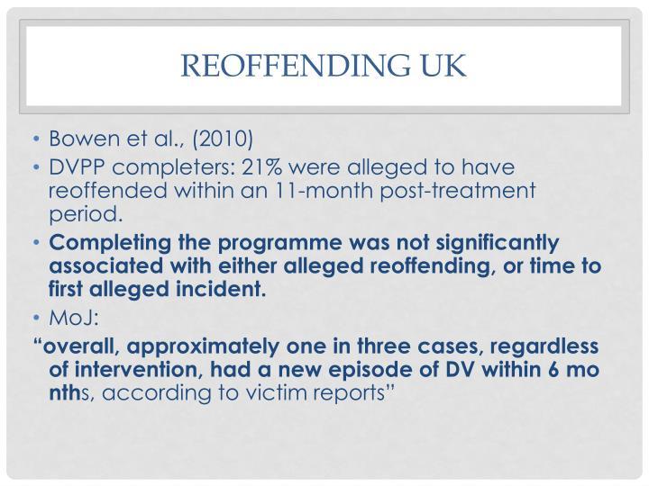 Reoffending UK