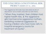 the concordia longitudinal risk project serbin et al 2004