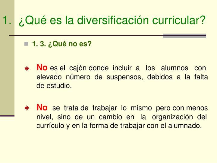 1.  ¿Qué es la diversificación curricular?