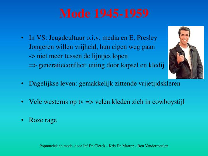 In VS: Jeugdcultuur o.i.v. media en E. Presley