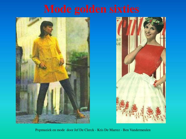 Mode golden sixties