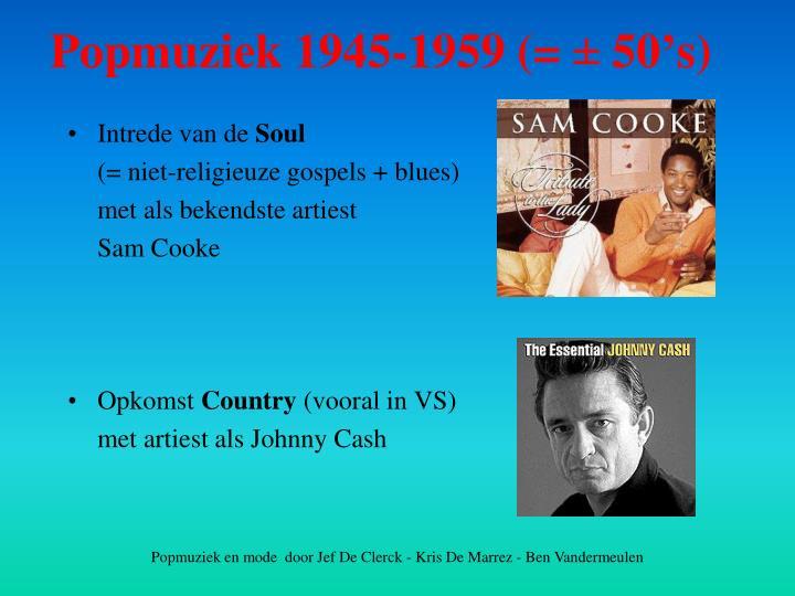 Popmuziek 1945-1959 (=