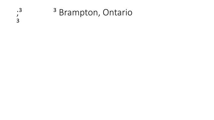 ;³              ³ Brampton, Ontario                                         ³