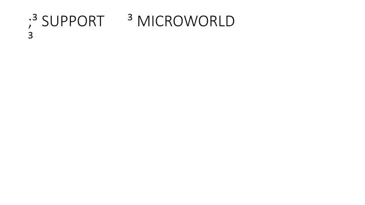 ; SUPPORT       MICROWORLD